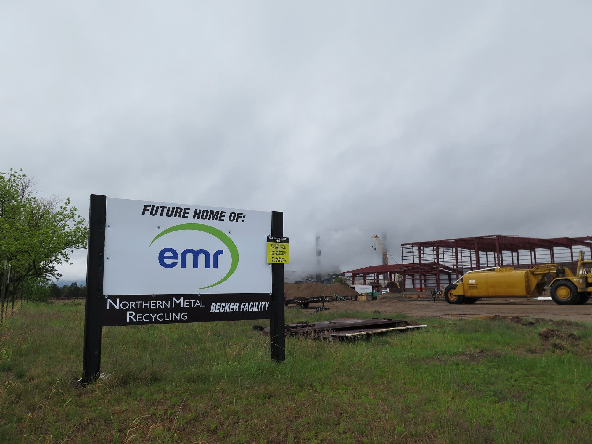 Construction is underway on the new Northern Metal Recycling facility.