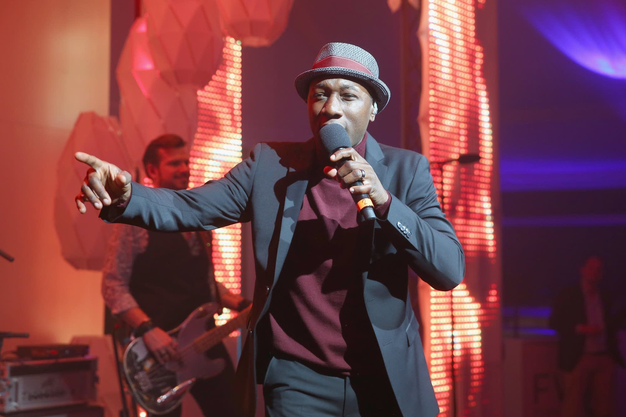 Aloe Blacc performing onstage