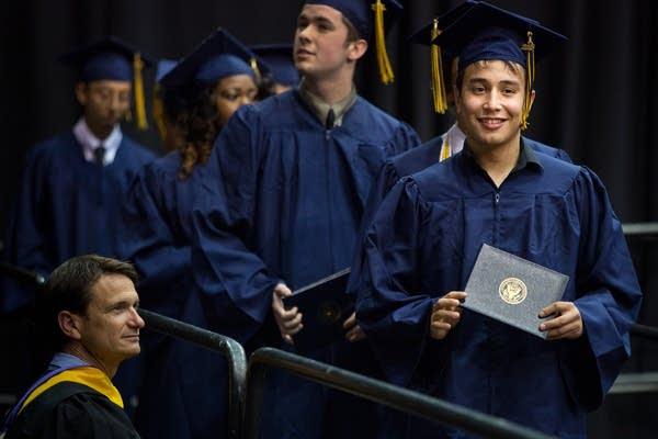 Adolfo Saldana Lara graduates from high school
