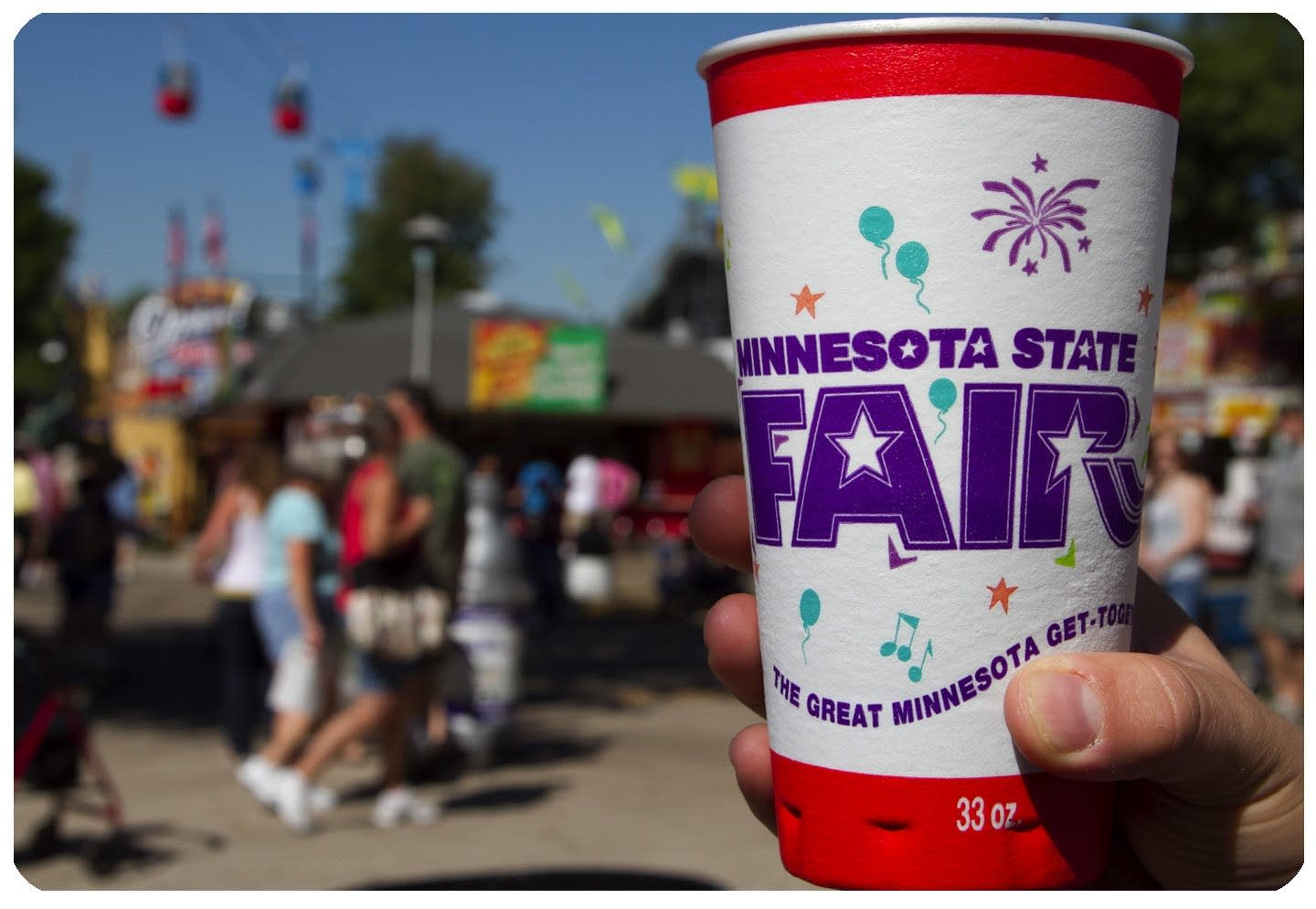 State Fair cup with background