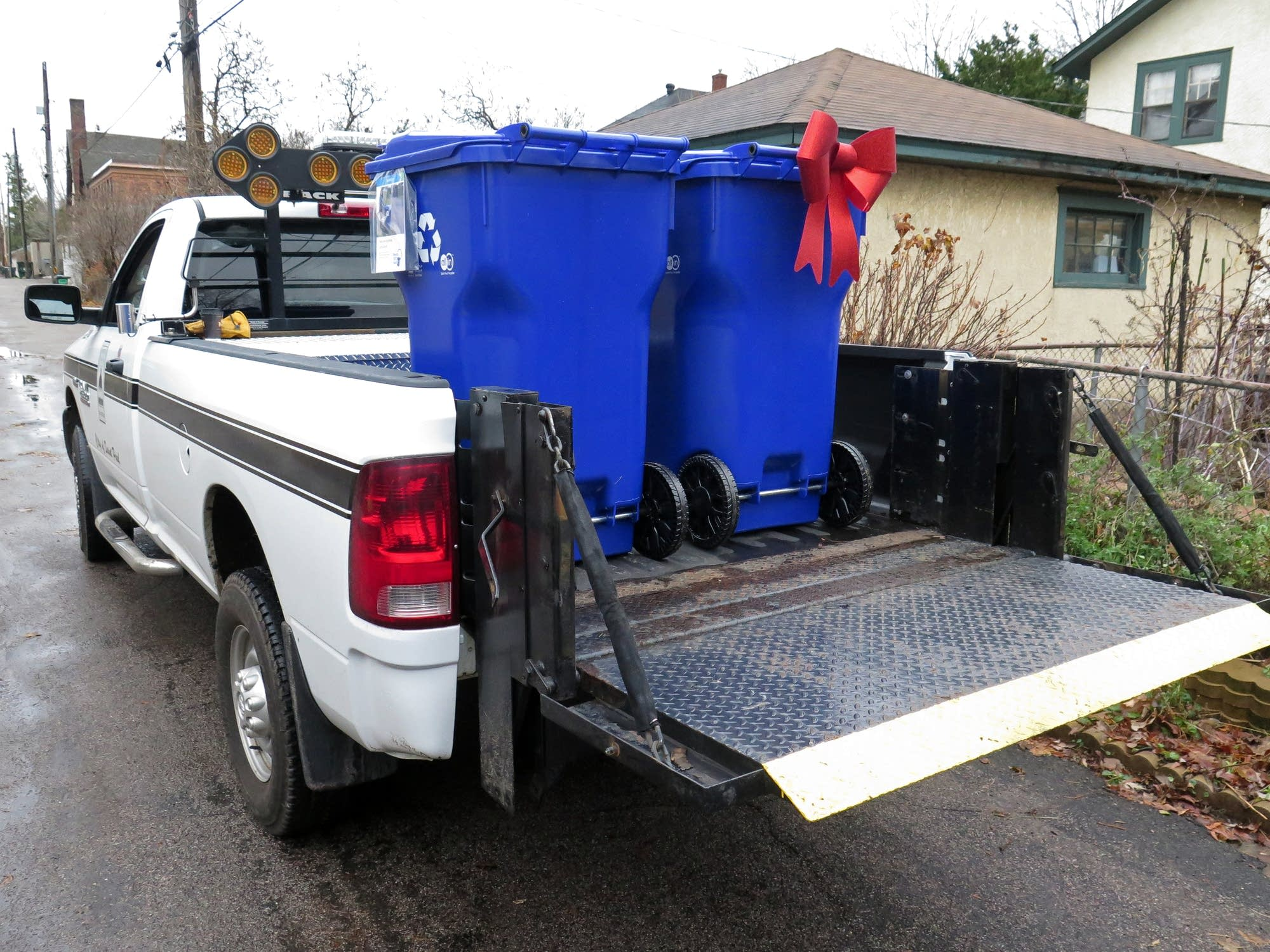 Recycling bins are headed for homes in St. Paul.