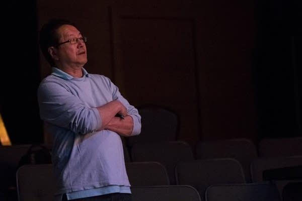 Rick Shiomi supervises rehearsal.