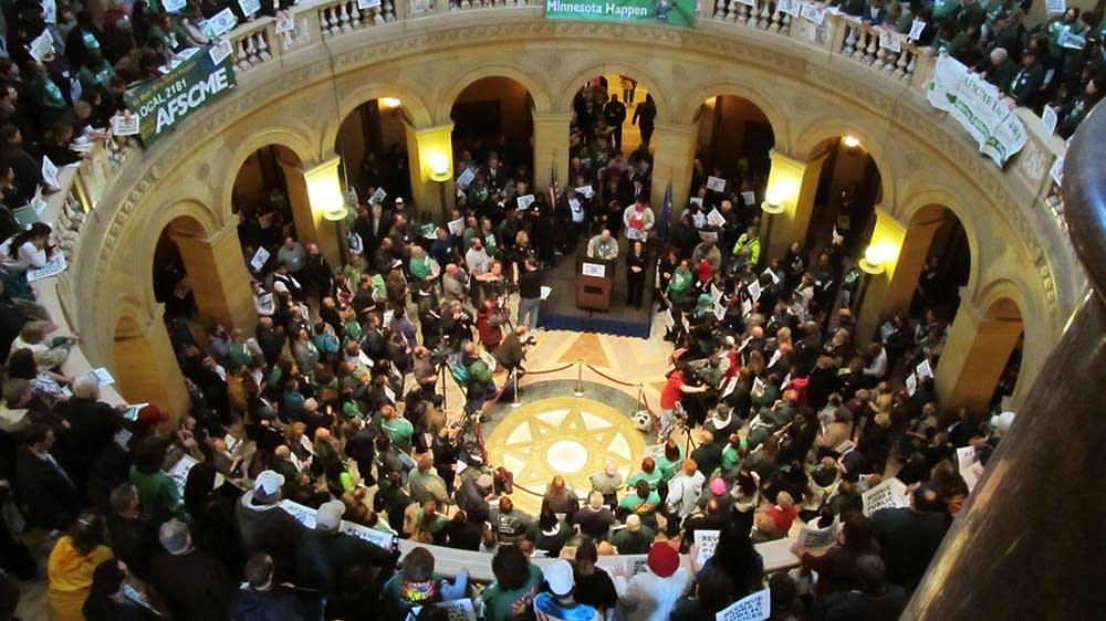 Public employee rally