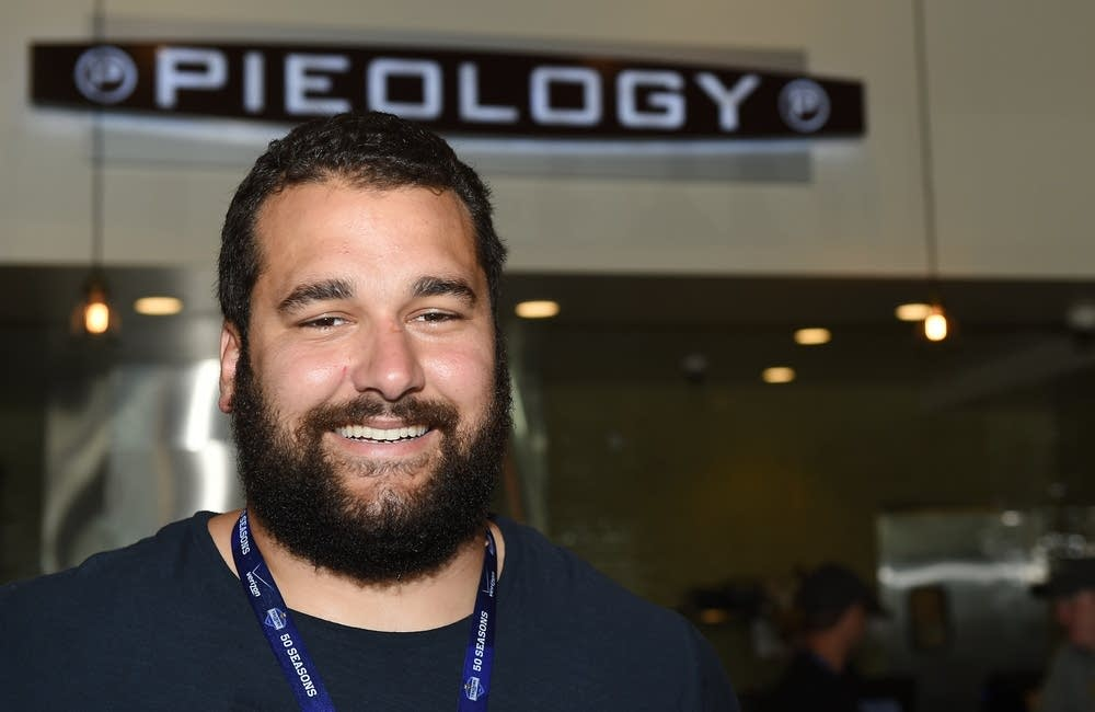 Matt Kalil at his pizza restaurant