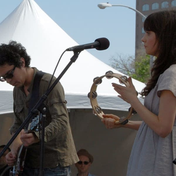 M. Ward and Zooey Dschanel of She and Him