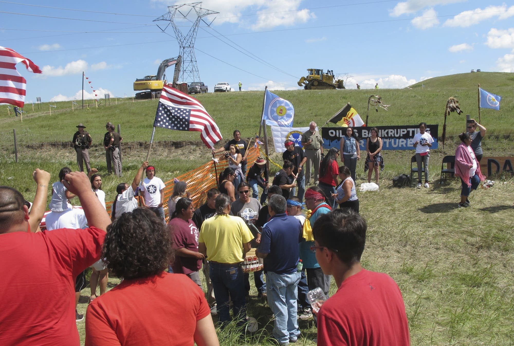 Native Americans protest Dakota Access pipeline