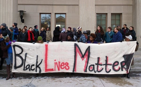 Students held a protest at the U of M.