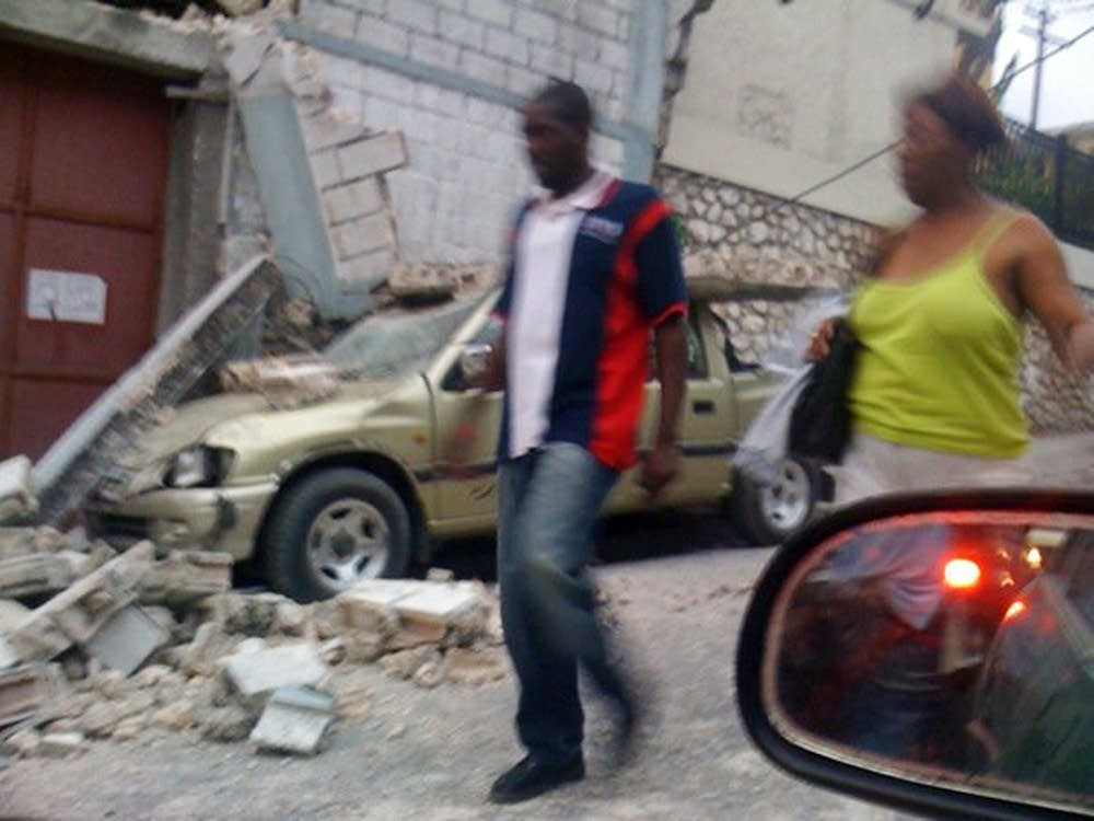 Damage in Haiti