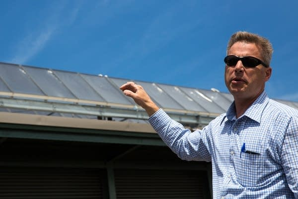 Ray Watts speaks about solar panels.
