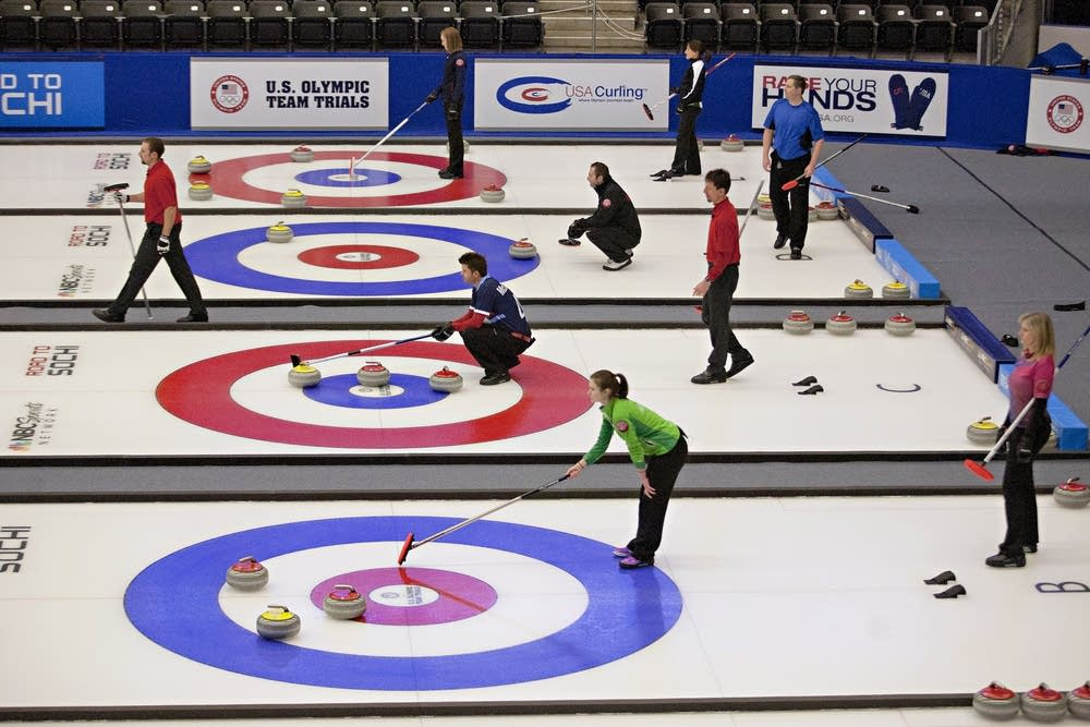 Curling trials in Fargo