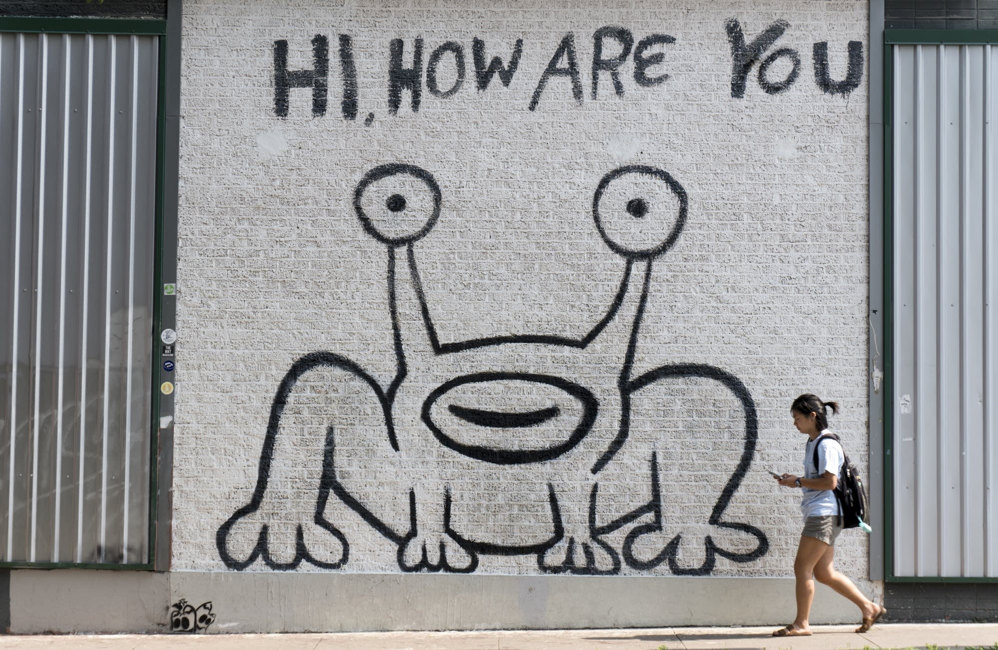 Daniel Johnston's 'Hi, How Are You' mural in Austin, Texas