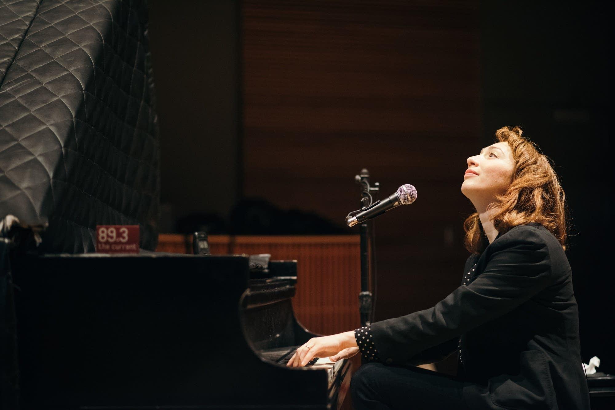 Regina Spektor in The Current studio