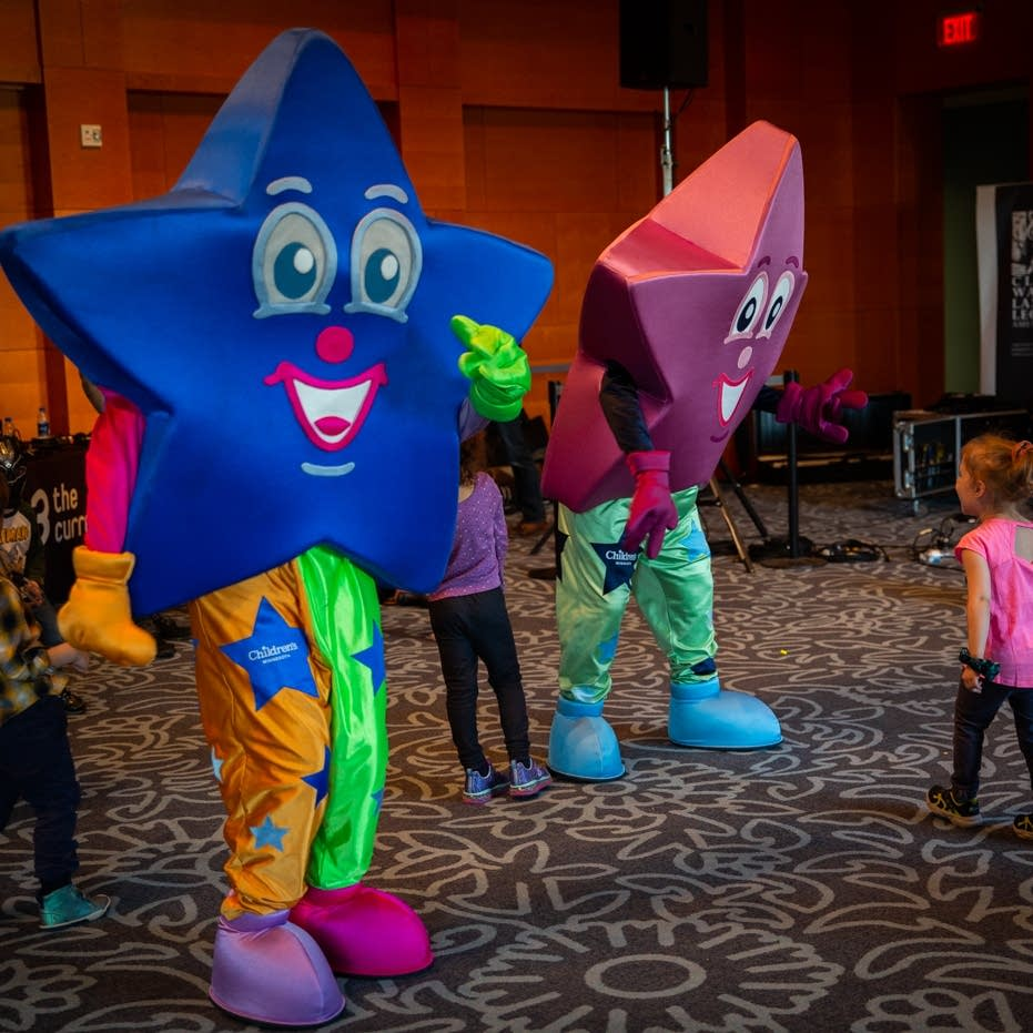 Children's Minnesota mascots dance at Rock the Cradle 2020.