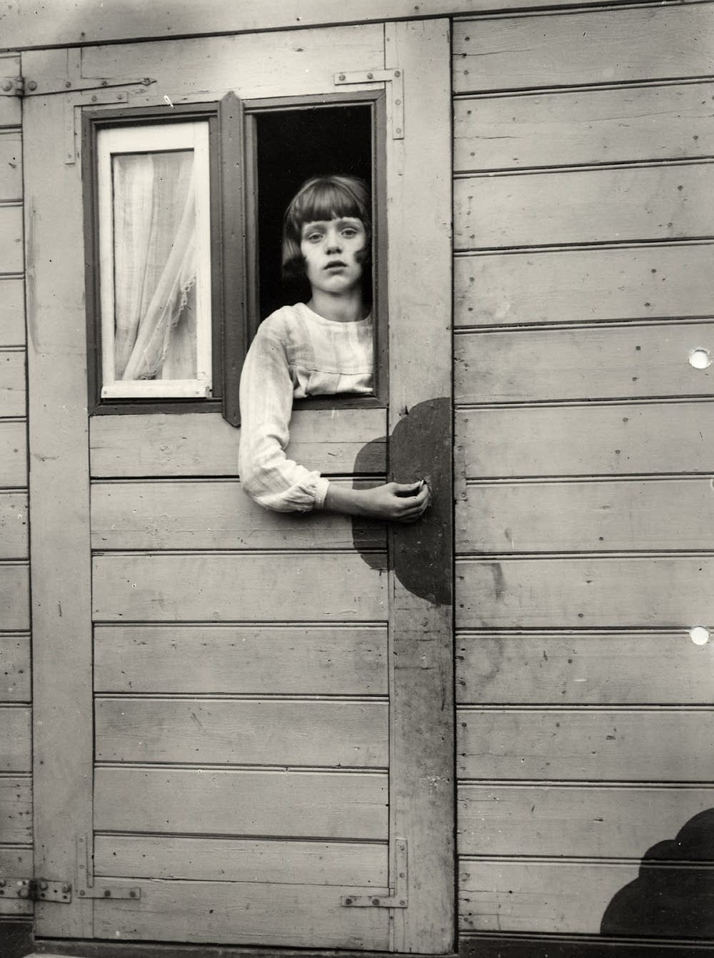 Girl in Fairground Caravan