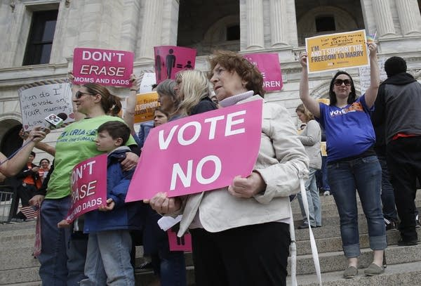 Same-sex marriage demonstrators
