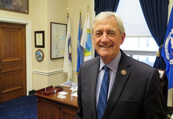 U.S. Representative Rick Nolan in his D.C. office.