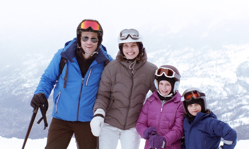 Tomas, Ebba, Vera and Harry pose for a picture.
