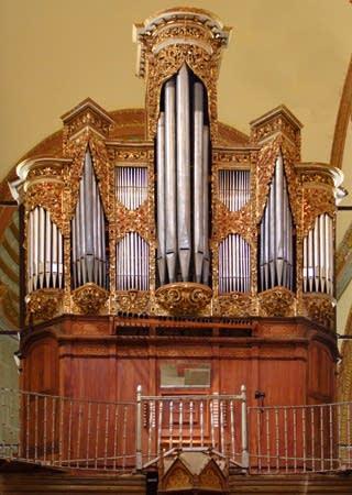 Organ at Oaxaca Cathedral, Mexico