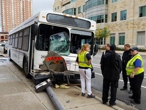 Bush crash in downtown Minneapolis
