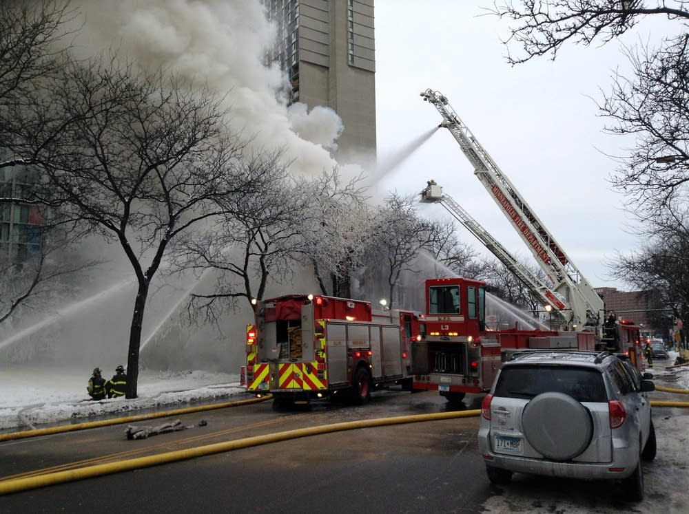 Firefighters in Cedar Riverside