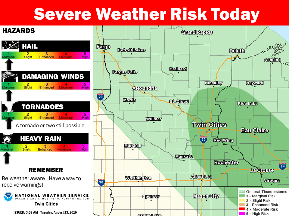 Severe risk today