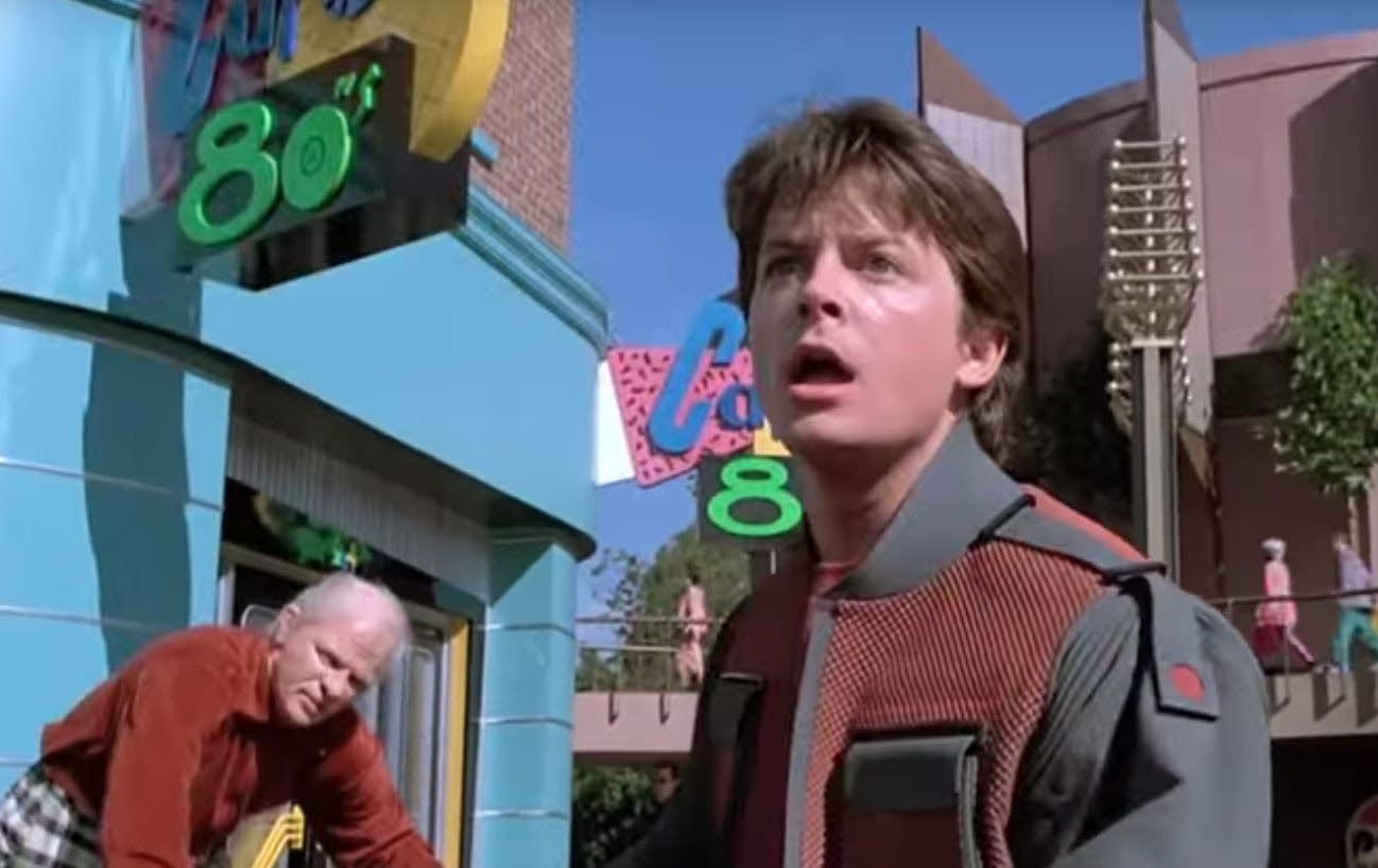 A scene from 'Back to the Future II'