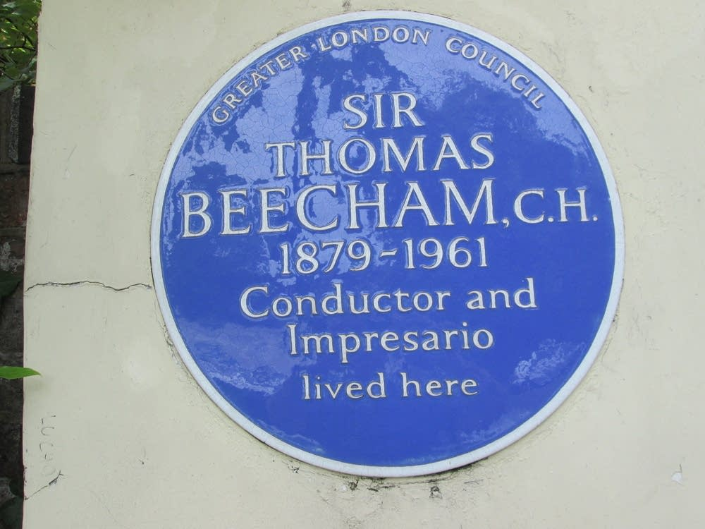 blue plaque sir thomas beecham london