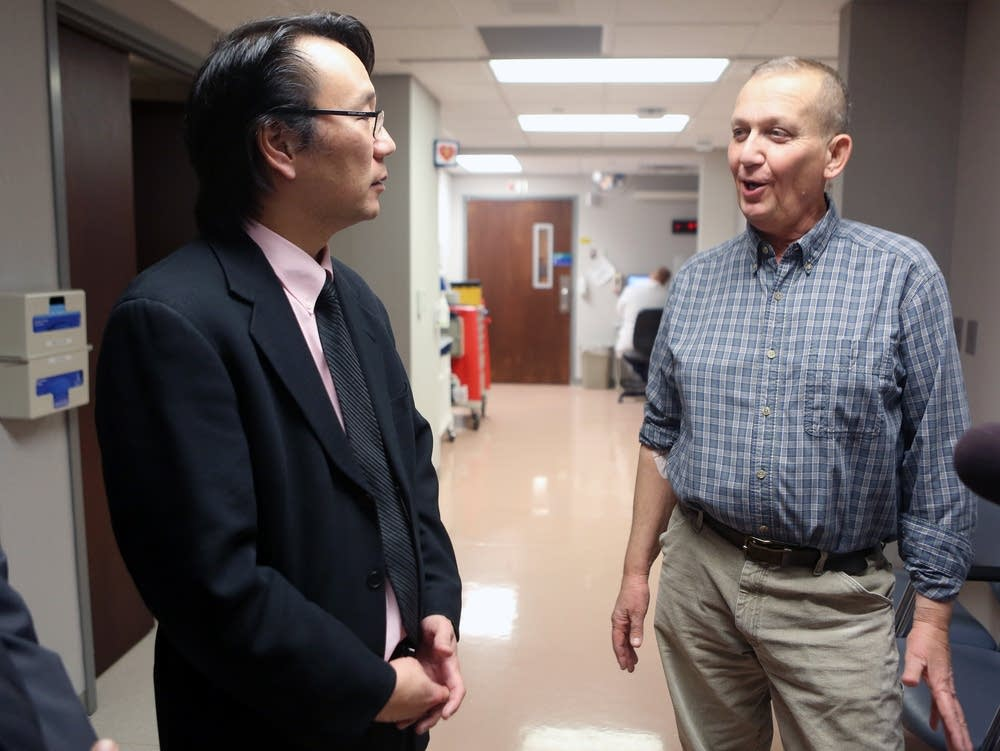 Dr. Kwon with patient