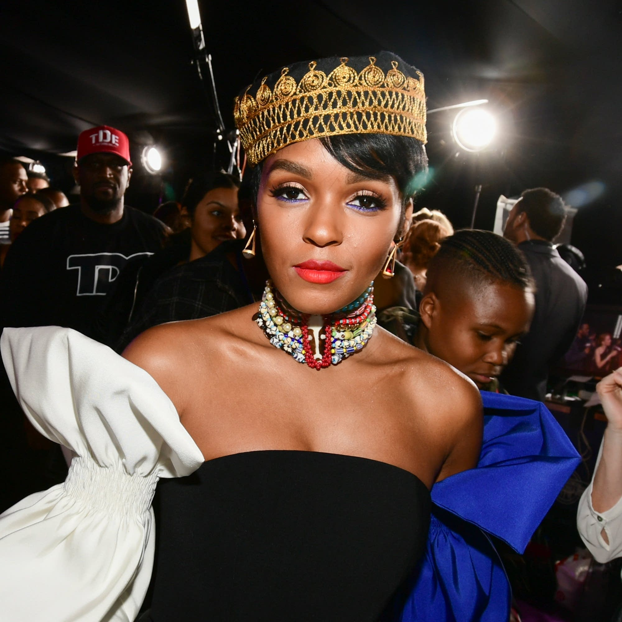 Janelle Monae at 'Black Panther' premiere