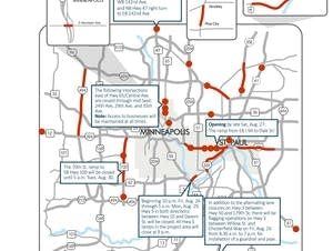 This weekend's road closures