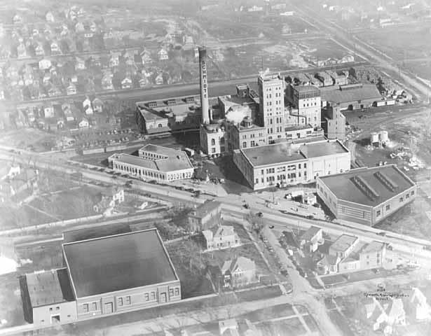 Aerial view of Schmidt Brewery