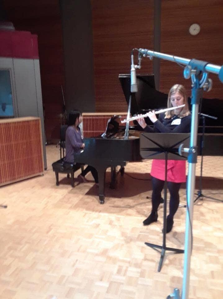 Bemidji State University's Lauren McNee in studio