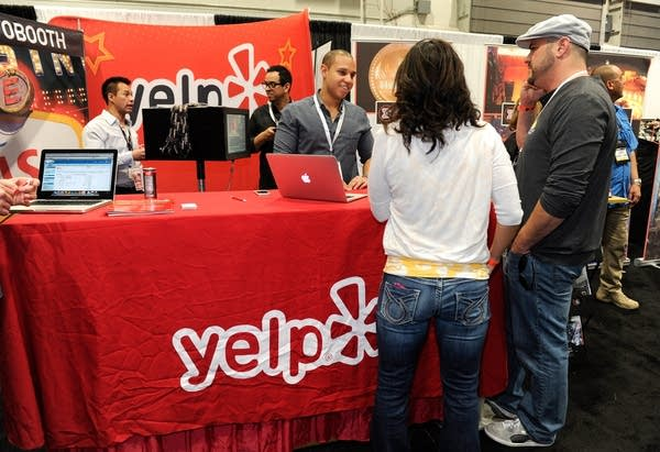 Yelp booth