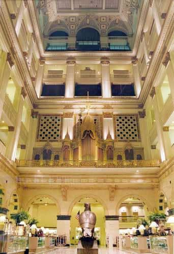 1911 Wanamaker Organ at the Macy's Center City in Philadelphia, PA