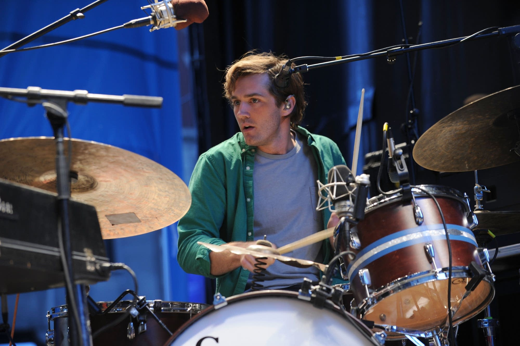 Drummer Chris Bear of Grizzly Bear