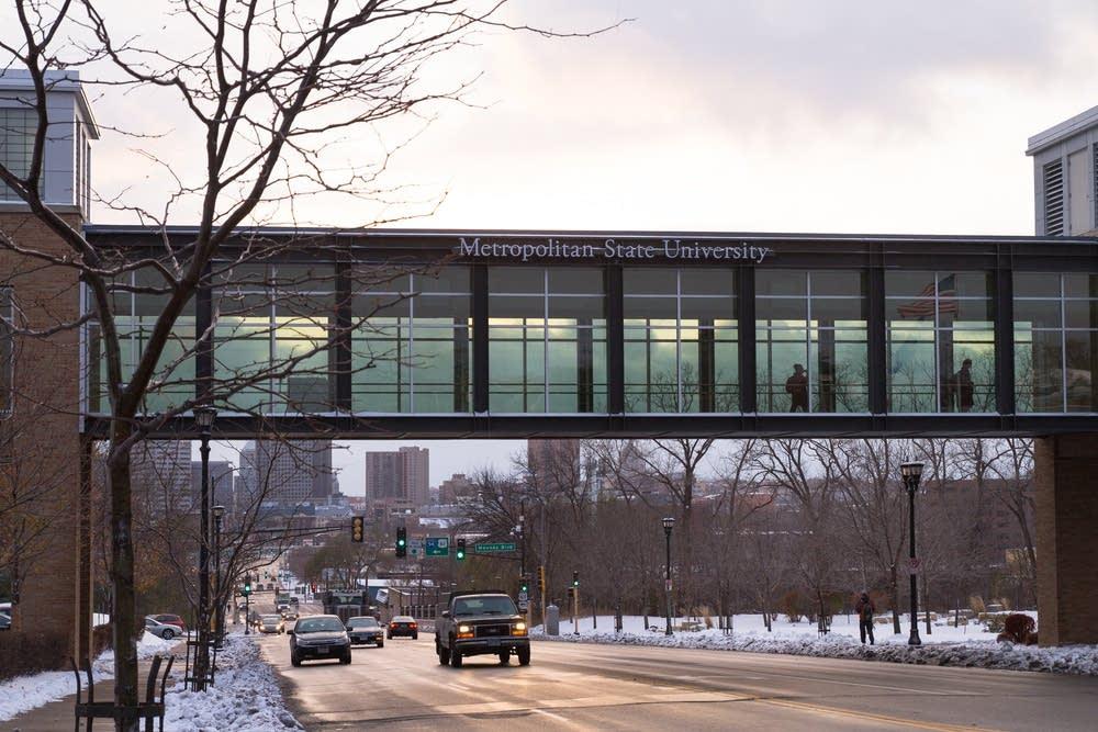 Metropolitan State University skyway.