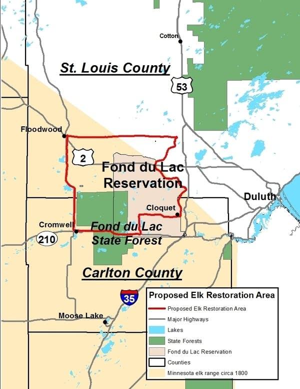 map of proposed elk restoration area