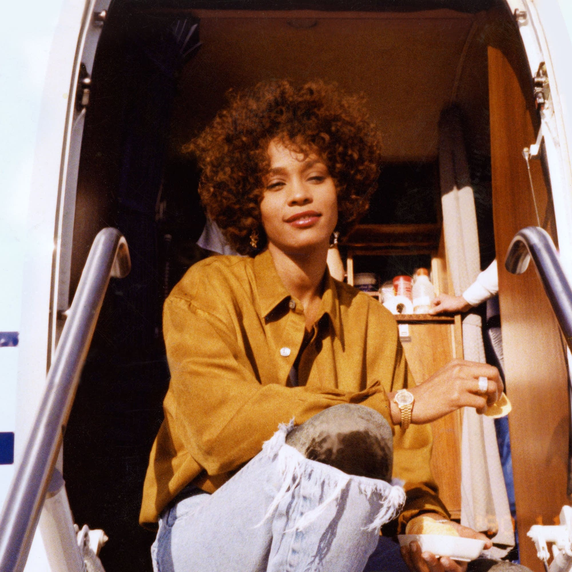 A photo of Whitney Houston from the film WHITNEY