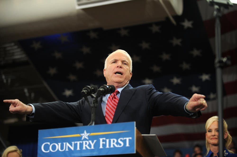 John McCain spends a second day in Ohio