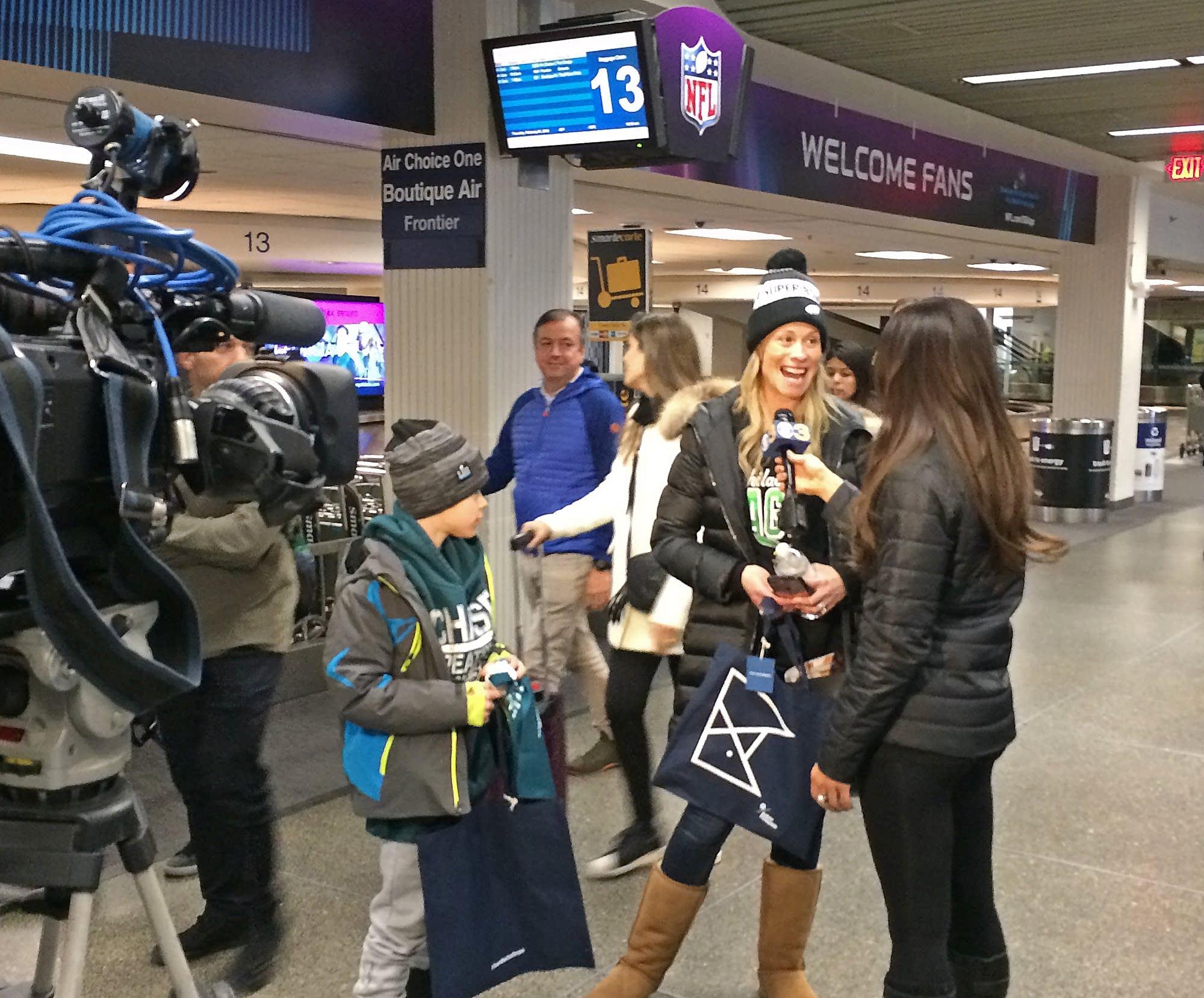 Irene Nudy of Malvern, Penn., talks to a Philadelphia TV station.