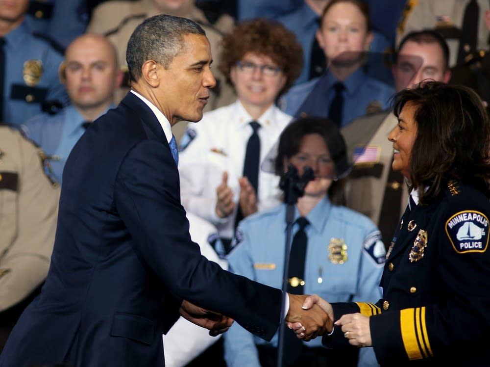 President Obama and Harteau