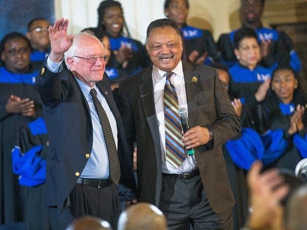 Sen. Bernie Sanders and the Rev. Jesse Jackson