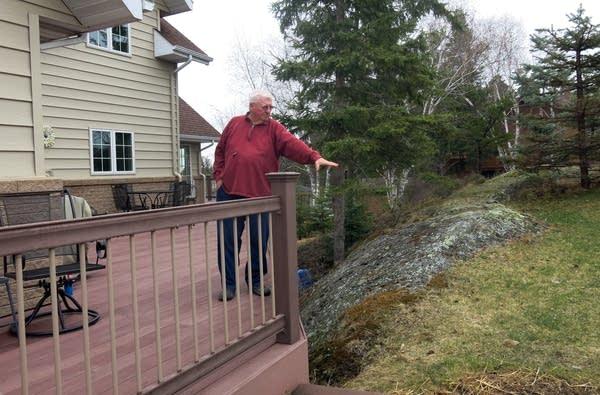 Ken Henrickson's house is built on bedrock.