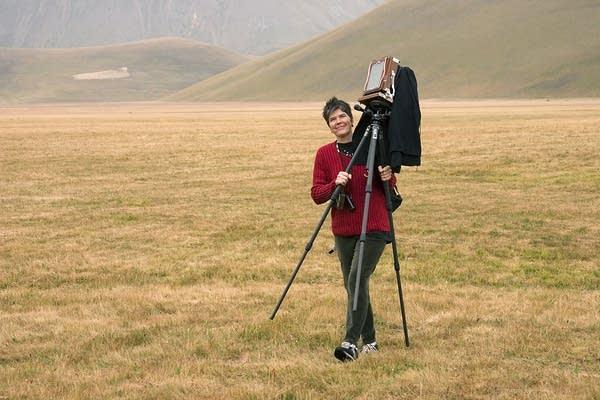 JoAnn Verburg with camera