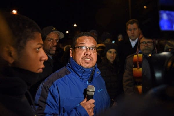U.S. Rep. Keith Ellison spoke to the crowd.