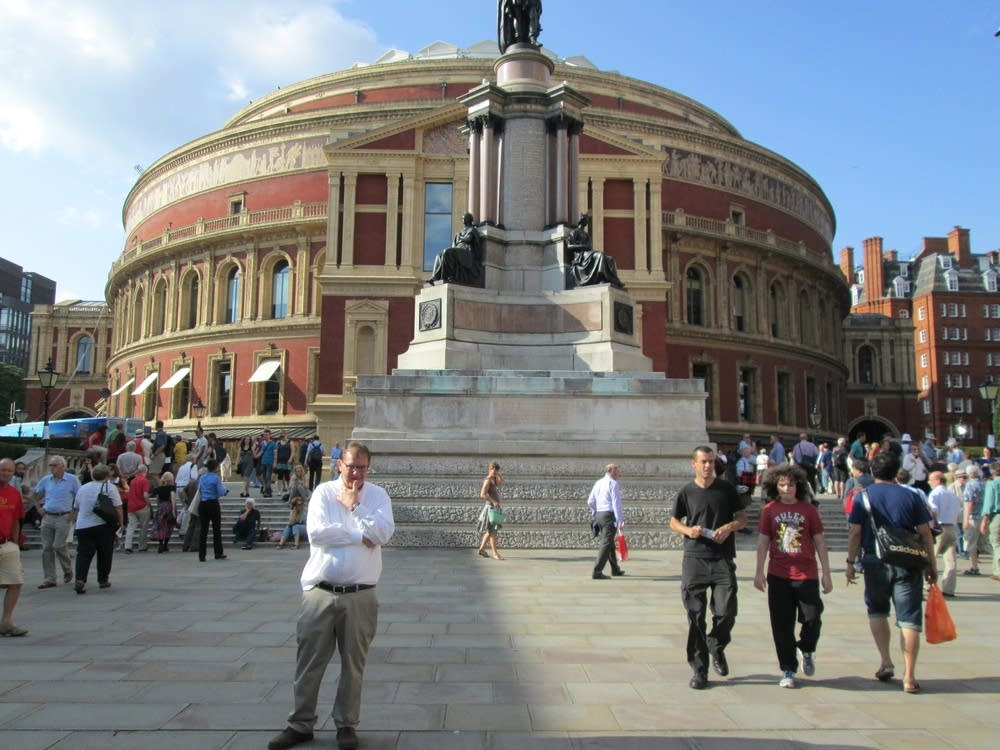 rex levang outside royal albert hall london