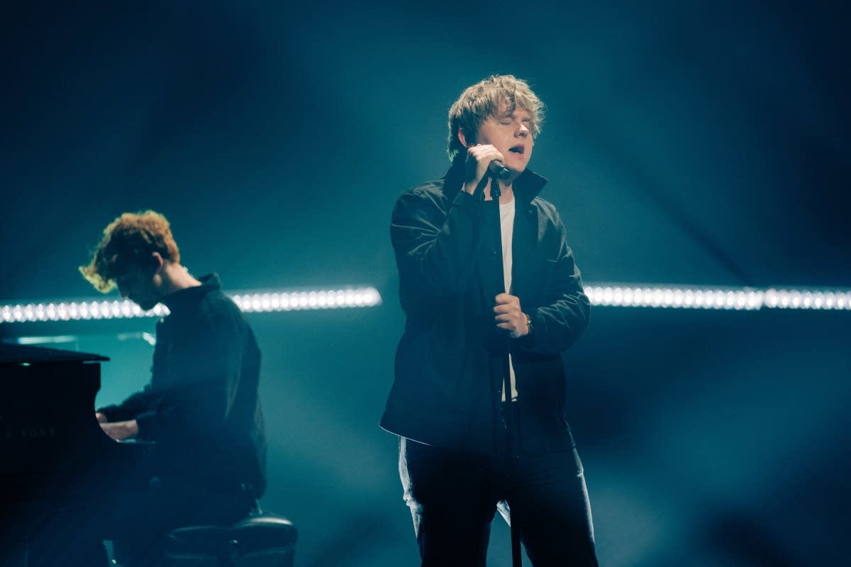 Lewis Capaldi performs on 'The Late Late Show with James Corden'