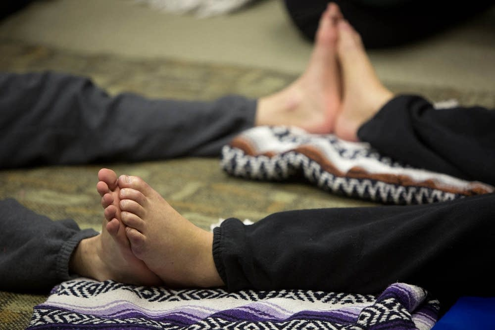 Matthew Sanford's adaptive yoga class