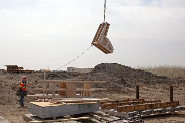 A view of a construction site.