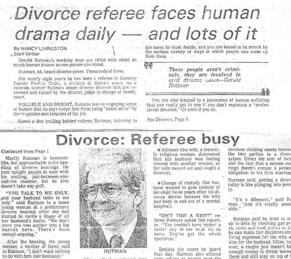 Divorce referee
